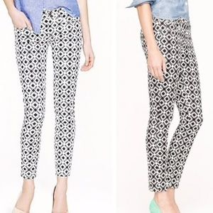 J.Crew Toothpick Patterned Jeans